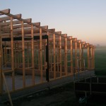 Schuur bouwen - Hout geraamte - 05 - dak
