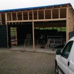 Schuur bouwen - Hout geraamte - 10 - wanden houten schuur